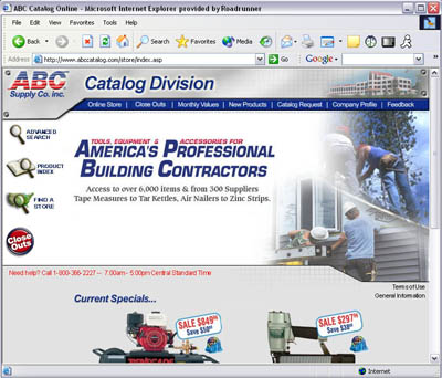 ABC Supply Website Design
