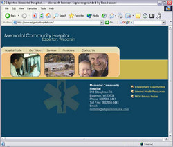 Memorial Hospital Website Design