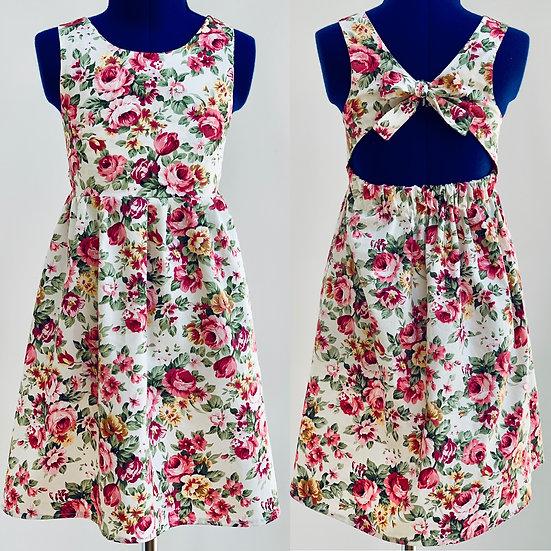 • i s a b e l l a • open bow tie back summer party dress