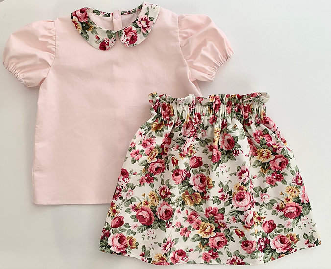 • a l i c e •  peter pan blouse & skirt set (Younger Girl)