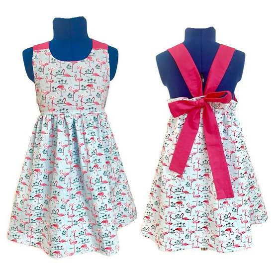 Girl Summer Dress |  • m a t i l d a •  bow tie back sleeveless girls dress