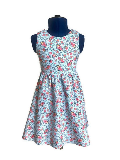 • p o p p y •  sleeveless tie back summer dress