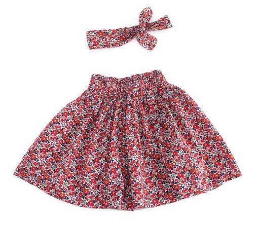 • e l l i e •  skirt in Liberty red ditsy floral