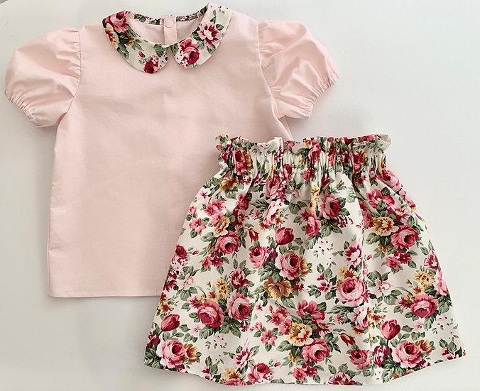 • a l i c e •  peter pan blouse & skirt set (Older Girl)