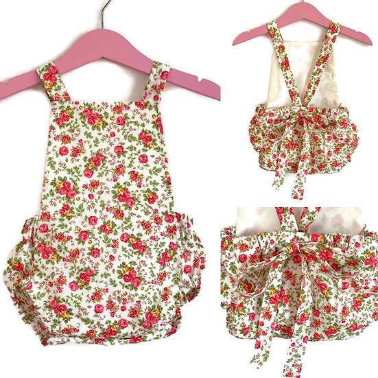 Baby Girl Romper   • d a i s y • Toddler Romper   Spring Romper   Floral Romper