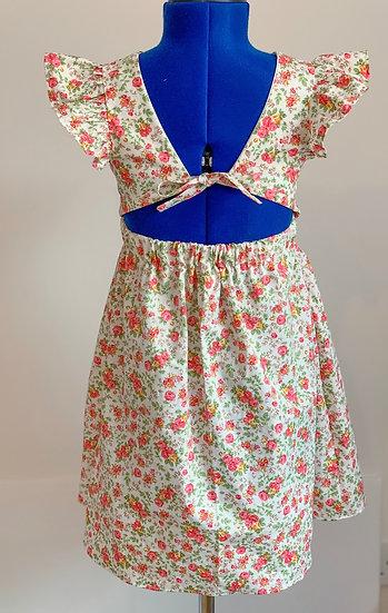 • p o p p y •  flutter sleeve open back dress