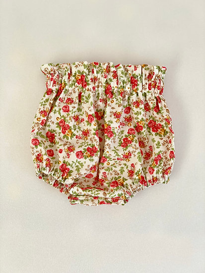 Baby Bloomers | • n e l l i e • vintage style high waisted cream floral bloomers