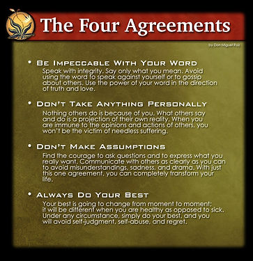Text from the four agreements
