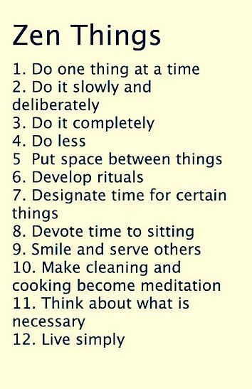 12 Zen things to do