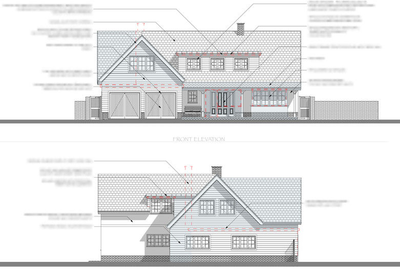 Back to Front Proposed Front Elevations