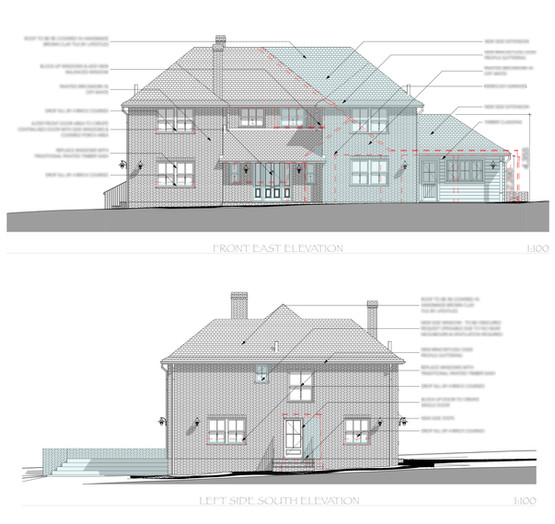 Front & Left Elevations