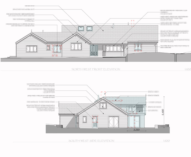 Front and Side Proposed Elevations