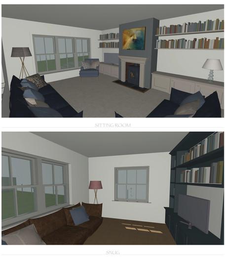 Living Room Model Visuals