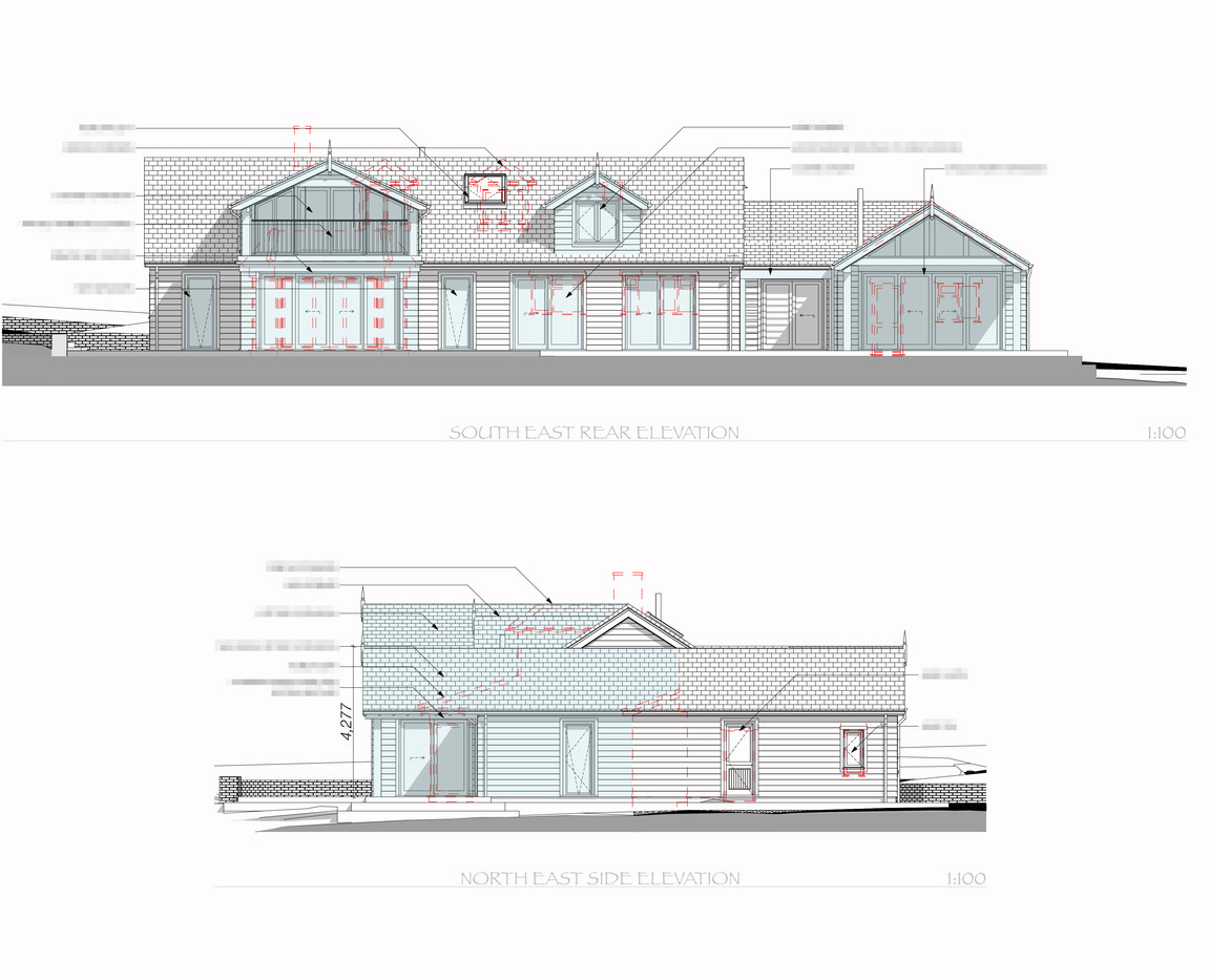 Rear and Side Proposed Elevations
