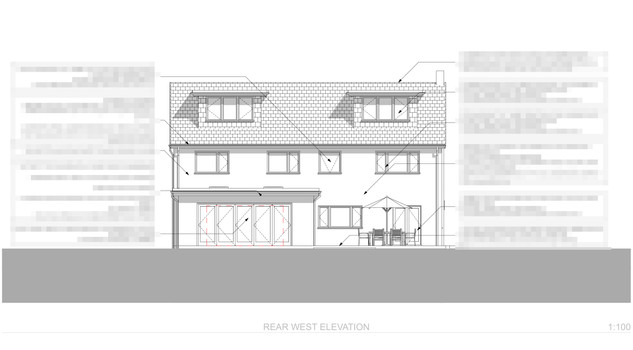 Back to Front's Annotated Rear Elevation