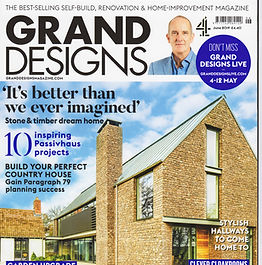 Front cover of Grand Designs Magazine