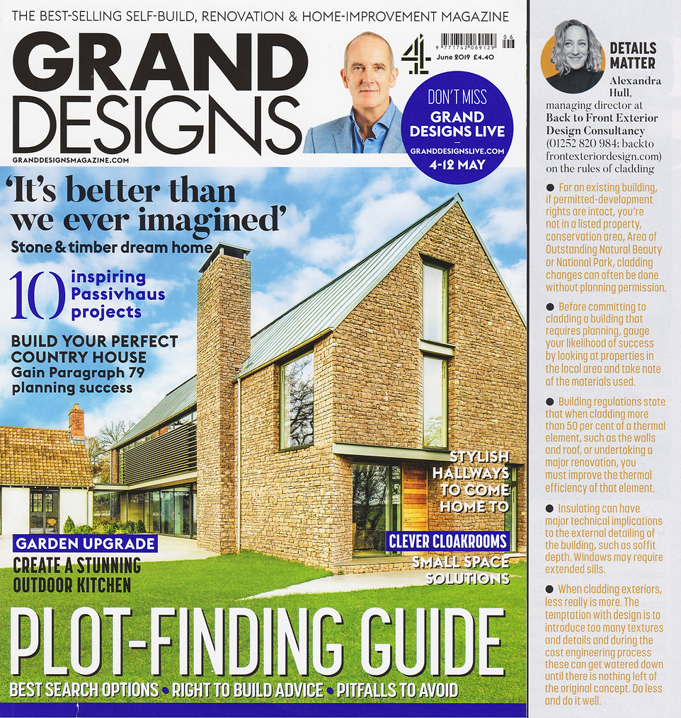 Column from Grand Designs magazine about things to consider when remodelling a home
