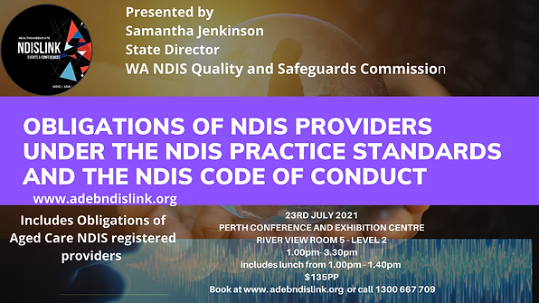 Obligations of NDIS providers under the