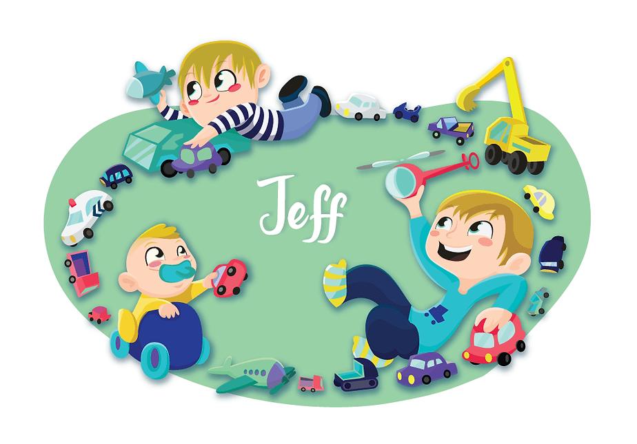 Jeff geboortekaart