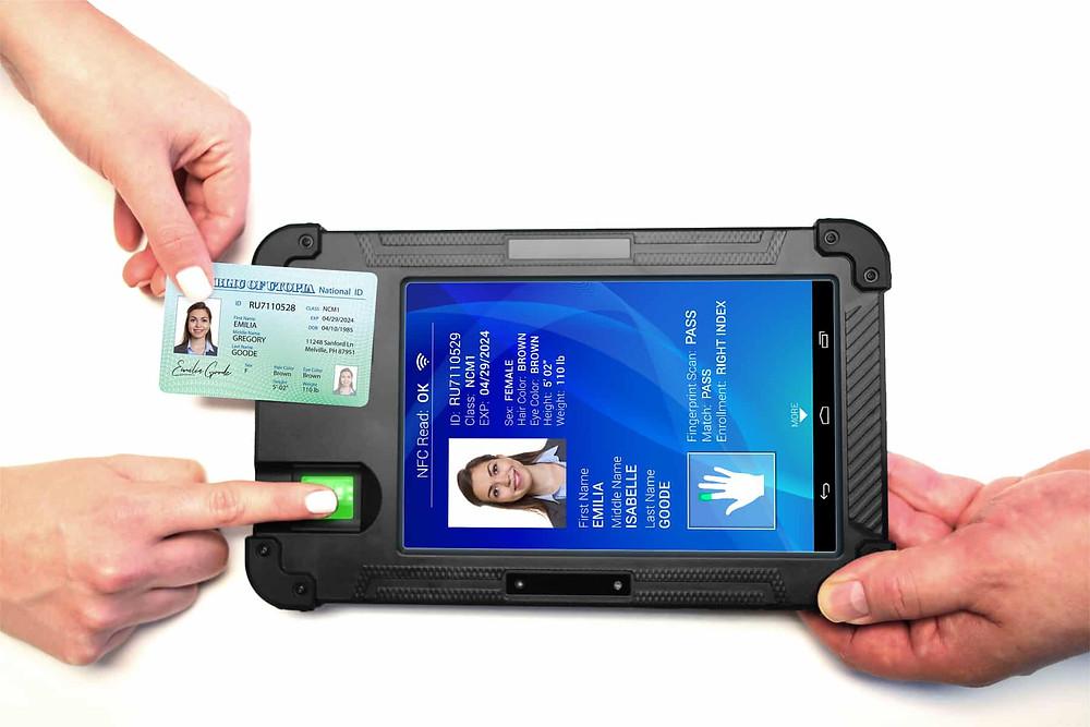 BIOSID™ Biometric Mobile Enrollment and Verification Tablet Device