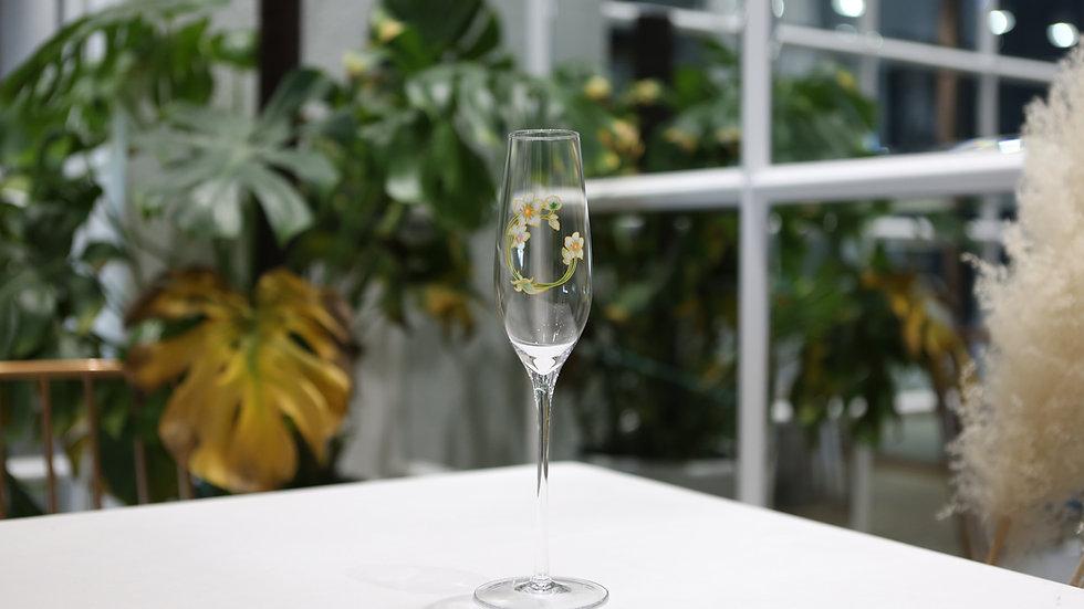 Maison Blue Champagne Glasses