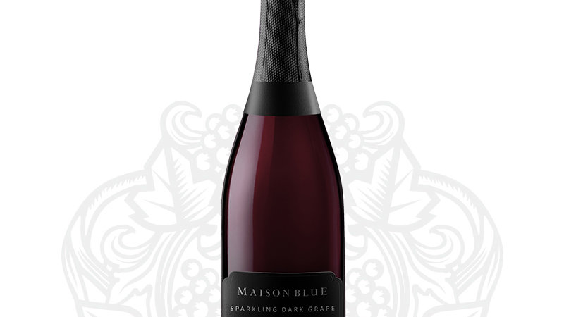 Maison Blue sparkling dark grape juice