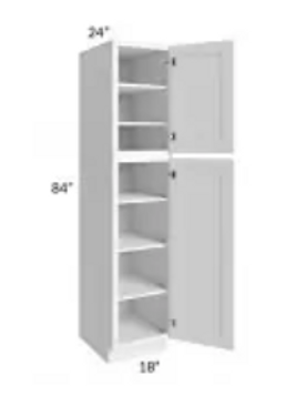 Maple Off-White Shaker Wall Pantry WP188424