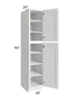 Maple Off-White Shaker Pantry Cabinet WP189024