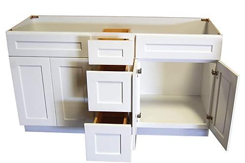 Birch Shaker Vanity ALL-IN-ONE Cabinet V6021DC