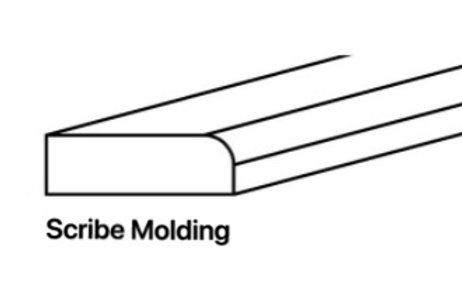 Shaker Cabinets Scribe Molding 1/2'' x 96'' x 3/4''