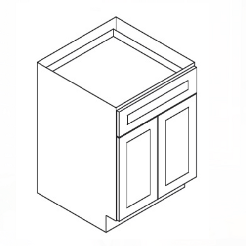 Maple Off-White Shaker Base Cabinet B27