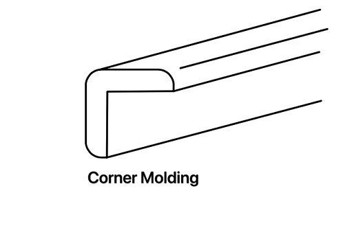 Shaker Cabinets Outside Corner Molding 3/4'' x 96''x 3/4''