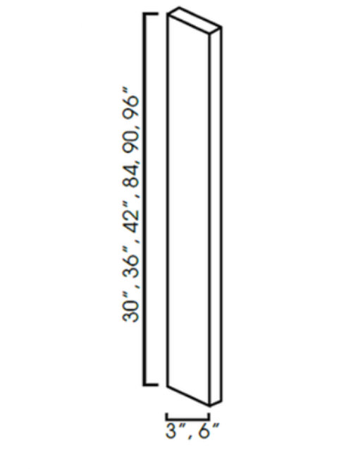 Shaker Cabinets Wall Filler 3''x 30''
