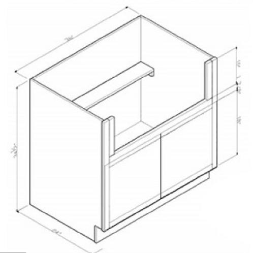 Solid Wood Maple Farmhouse Sink Base Cabinet FSB36