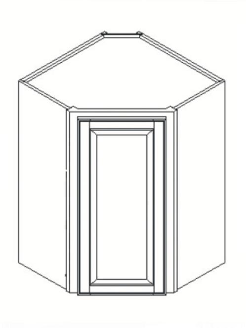 Maple Shaker Wall Diagonal Cabinet WDC2430