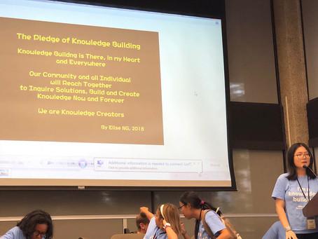 伍慧芝同學及老師獲邀於多倫多大學分享「知識建構」成果