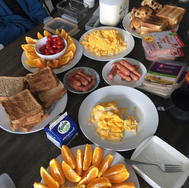 Hoe made breakfast to start our day