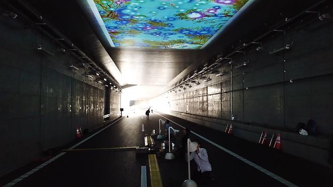 東京外かく環状道路松戸IC開通記念「未来トンネル」/ Future Tunnel
