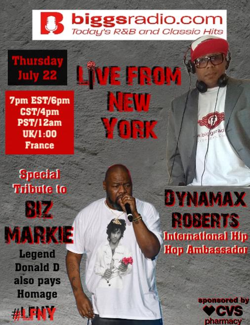 LFNY July 22 Biz Markie Tribute
