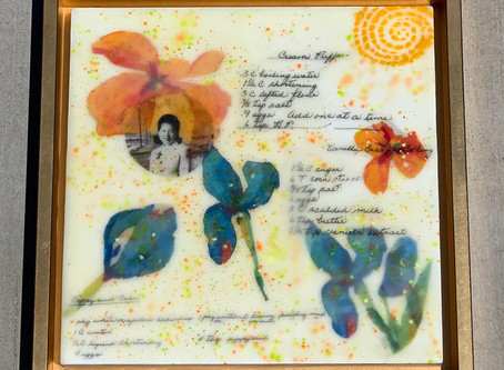 An encaustic art by Irene Ikeda