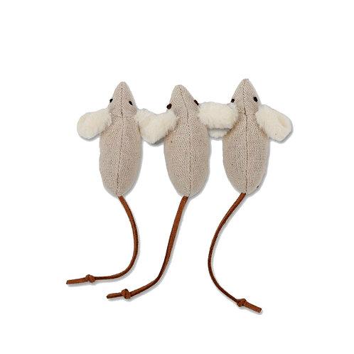Ratos de pelúcia com catnip