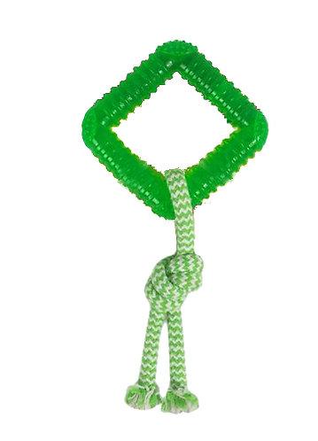 Mordedor quadrado com corda