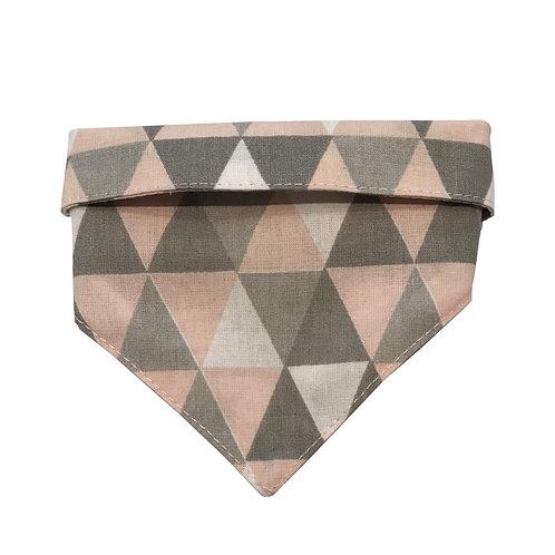 Bandana Triângulos - rosa
