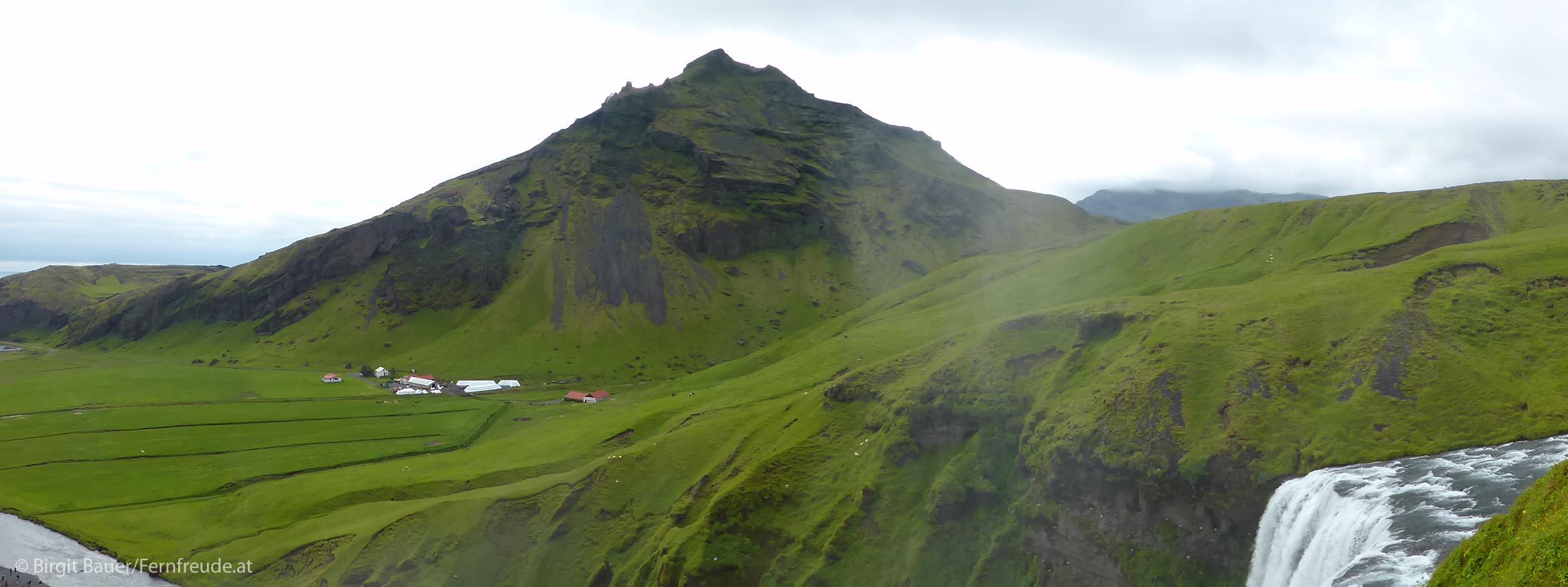 Landschaft beim Skogafoss