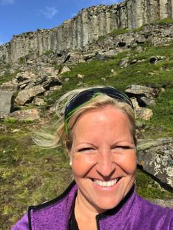 Birgit in Island