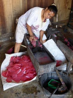 Herstellung von Maniokchips