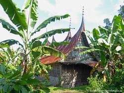 Traditionelles Minangkabau-Haus