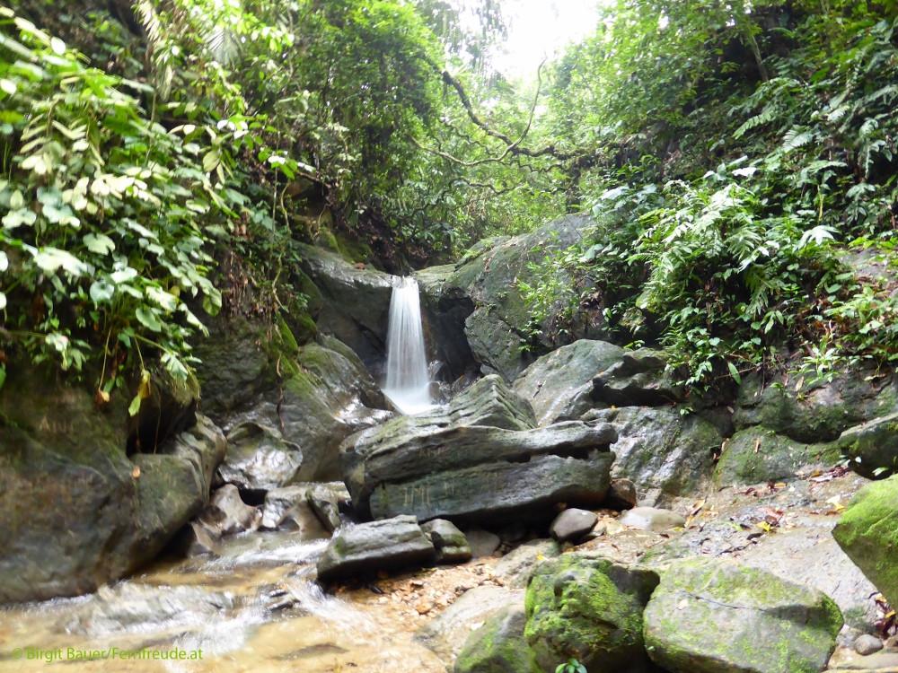 Ein kleiner Wasserfall am Weg