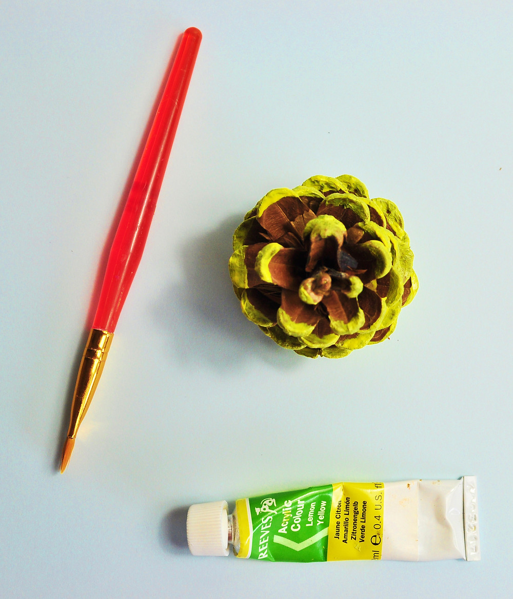 painted pine cone