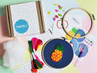 "July's craft kit - How to ""Needle-Punch"" Summer fruits"